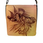 Yellow abstract bag - Flap Closure Messenger Bag (L)