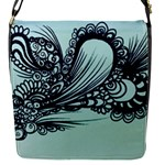 Aquamarine abstract bag - Removable Flap Cover (S)