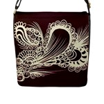 Aubergine abstract bag - Flap Closure Messenger Bag (L)