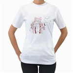 TH Paint - Fire Mokou - Women s T-Shirt (White)
