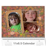 Shabby Chic/Flowers/Mother-Photo Calendar (12 months) - Wall Calendar 11  x 8.5  (12-Months)