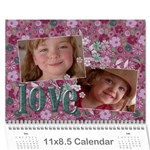 Love/purple/mother/family- Photo Calendar (12 months) - Wall Calendar 11  x 8.5  (12-Months)