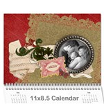 Family - Blessed Any theme - Floral Wall calendar - Wall Calendar 11  x 8.5  (12-Months)