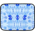 Snowflake blanket - Double Sided Fleece Blanket (Mini)