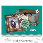 Vacation -Travel - Calendar - Wall Calendar 11  x 8.5  (12-Months)