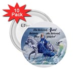faith button - 2.25  Button (10 pack)