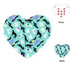Turquoise Silken Windhound Heart Playing Cards - Playing Cards Single Design (Heart)