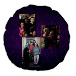 Christine pillow 1 - Large 18  Premium Round Cushion