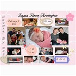 Jayna Birth Announcement - 5  x 7  Photo Cards
