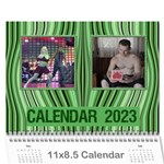Shades of Green 2020 Wall Calendar 11 x 8.5 (any Year) - Wall Calendar 11  x 8.5  (12-Months)