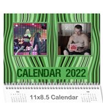 Shades of Green 2019 Wall Calendar 11 x 8.5 (any Year) - Wall Calendar 11  x 8.5  (12-Months)