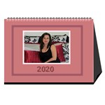 Jane Shades of Red Desktop Calendar (8.5x6) - Desktop Calendar 8.5  x 6