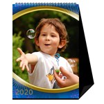 Jane Desktop Calendar with Class in blue (6x8.5) - Desktop Calendar 6  x 8.5