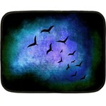 Blue Colored Bird - Small Fleece Blanket - Fleece Blanket (Mini)