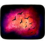 Pink Colored Bird - Small Fleece Blanket - Fleece Blanket (Mini)