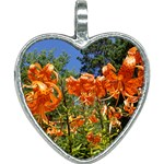 Necklace Tiger Lilies - Heart Necklace