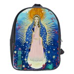 leather back pack with Our Lady of Guadalupe - School Bag (Large)