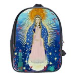 black leather back pack - our lady of guadalupe - School Bag (XL)