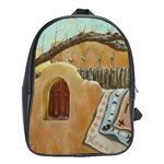 leather back pack with Guadalupe district wall - School Bag (XL)