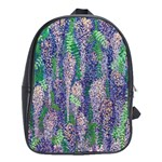 leather back pack with wisteria lane - School Bag (XL)