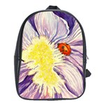 leather back pack with iris and lady - School Bag (XL)