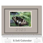 Jane Coffee and Cream (any Year) 2020 Calendar 8.5x6 - Wall Calendar 8.5  x 6