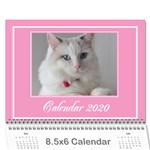 Jane Pink Princess Wall Calendar (any year) 8.5x6 - Wall Calendar 8.5  x 6