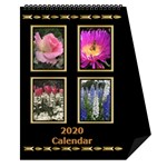 Jane Black and Gold Desktop Calendar (6 Inch) - Desktop Calendar 6  x 8.5