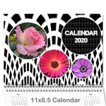 Jane Modern Black and White Calendar 2020 (any Year) - Wall Calendar 11  x 8.5  (12-Months)