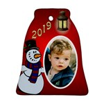 George Snowman 2019 Bell Ornament (2 Sided) - Bell Ornament (Two Sides)