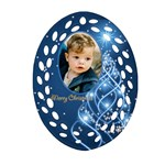 George Christmas filigree Oval Ornament 3 (2 sided) - Oval Filigree Ornament (Two Sides)