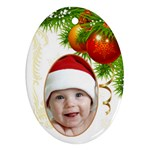 Jane Christmas Oval (2 sided) Ornament - Oval Ornament (Two Sides)