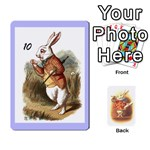 alice-tenniel-B-rabbitback - Playing Cards 54 Designs (Rectangle)