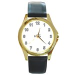 featuring Bejeweled - Round Gold Metal Watch