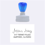 address TIERNEY - Rubber Stamp Oval