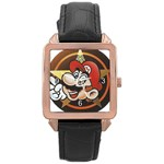 playboy mario - Rose Gold Leather Watch