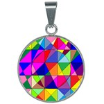 Colorful Fun - 25mm Round Necklace