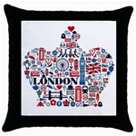Throw Pillow Case (Black)