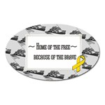 support our troops - Magnet (Oval)
