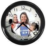 Soccer Ball Clock - Wall Clock (Black)