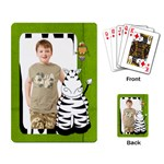 Safari Zebra Playing Cards - Playing Cards Single Design