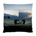 Sunset silouette of my girls - Standard Cushion Case (One Side)