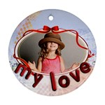 love  - Round Ornament (Two Sides)