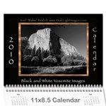 B&W Calendar Yosemite and more  2010 18 month - Wall Calendar 11  x 8.5  (12-Months)