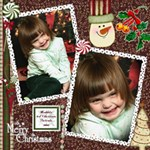 Maddie s 2008 Christmas Portraits 12x12 - ScrapBook Page 12  x 12