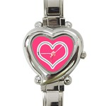 Zip Heart Charm Watch - Heart Italian Charm Watch