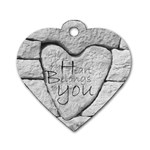 Modern Love Heart Dogtag www.CatDesignz.com - Dog Tag Heart (Two Sides)