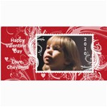 Valentine s Day card 8x4 - 4  x 8  Photo Cards