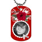 Hang in boyfriend s car :-) - Dog Tag (One Side)