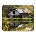 Seeing Double Barns - Large Mousepad